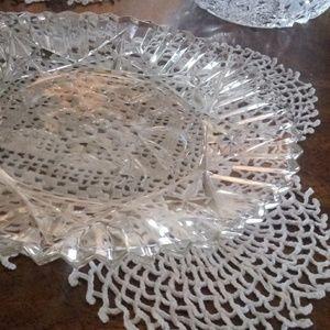 Crystal plates and bowls